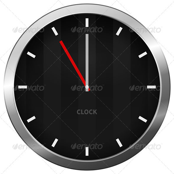 Dark Clock - Objects Vectors