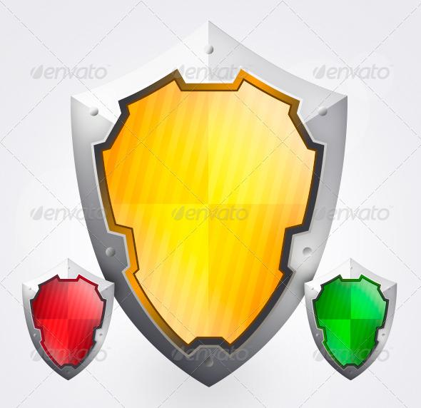 Steel Privacy Shields - Conceptual Vectors