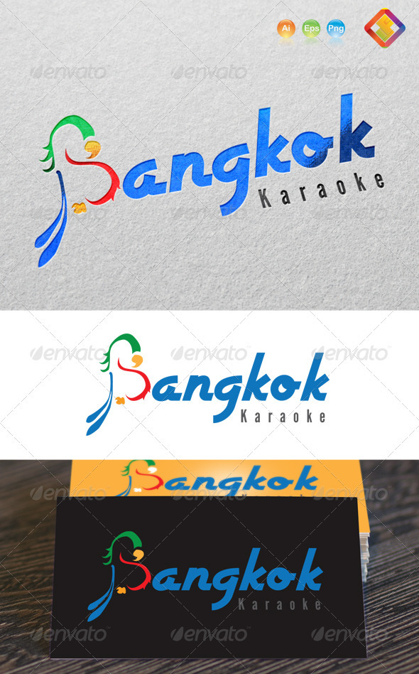 Bangkok Karaoke Logo - 'B' Letter Design - Letters Logo Templates