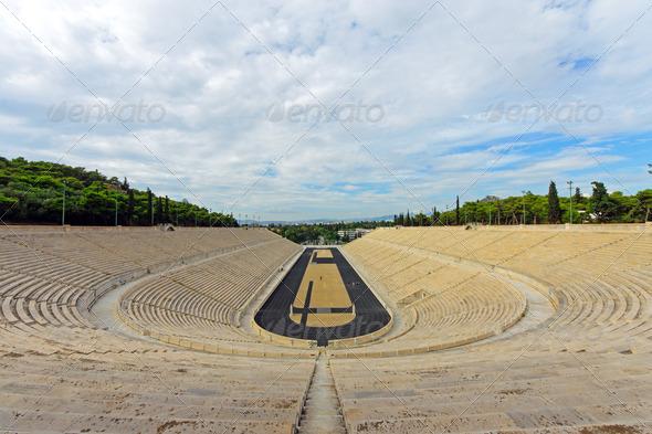 The old Panathenaic stadium in Athens - Stock Photo - Images