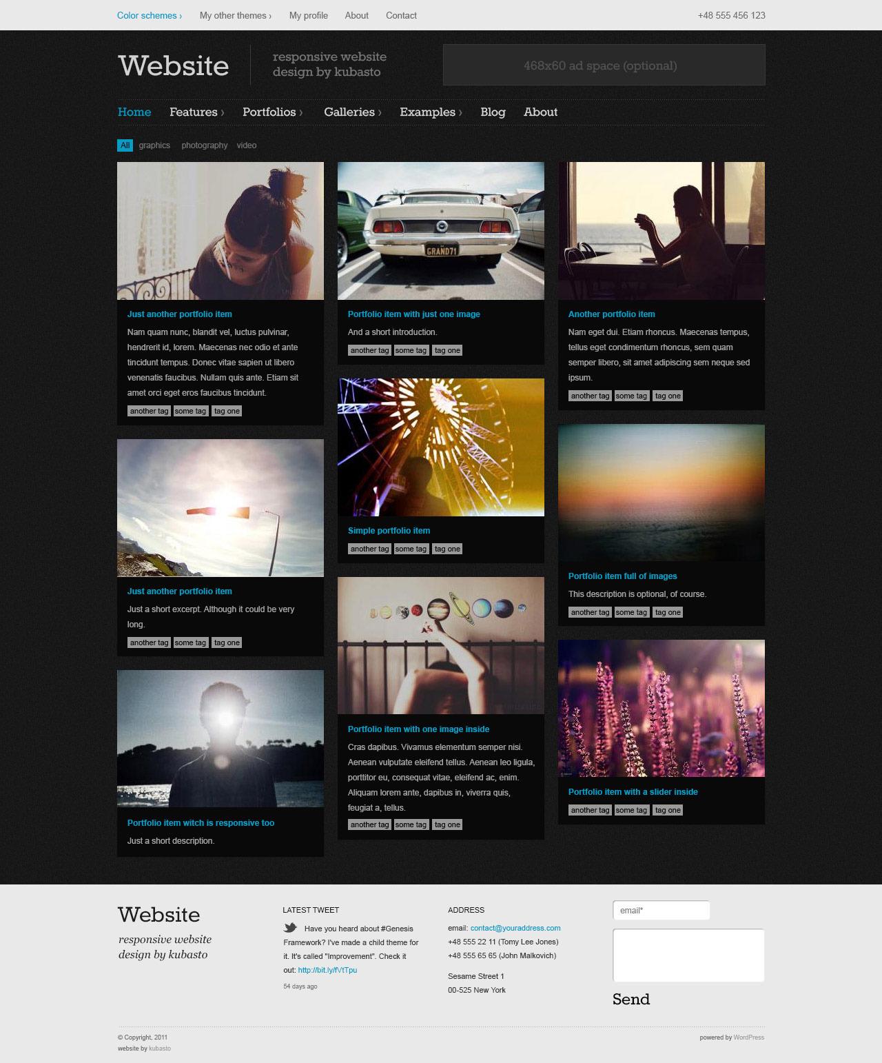 Portfolio Site Examples: Website PSD Template By WebberWebber