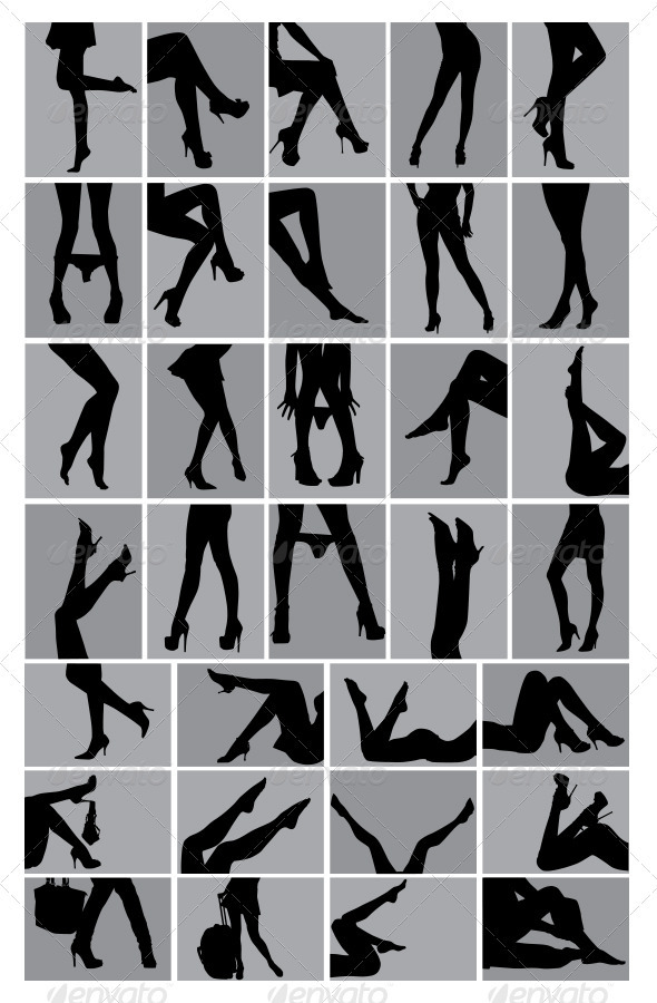 Legs Silhouettes - People Characters