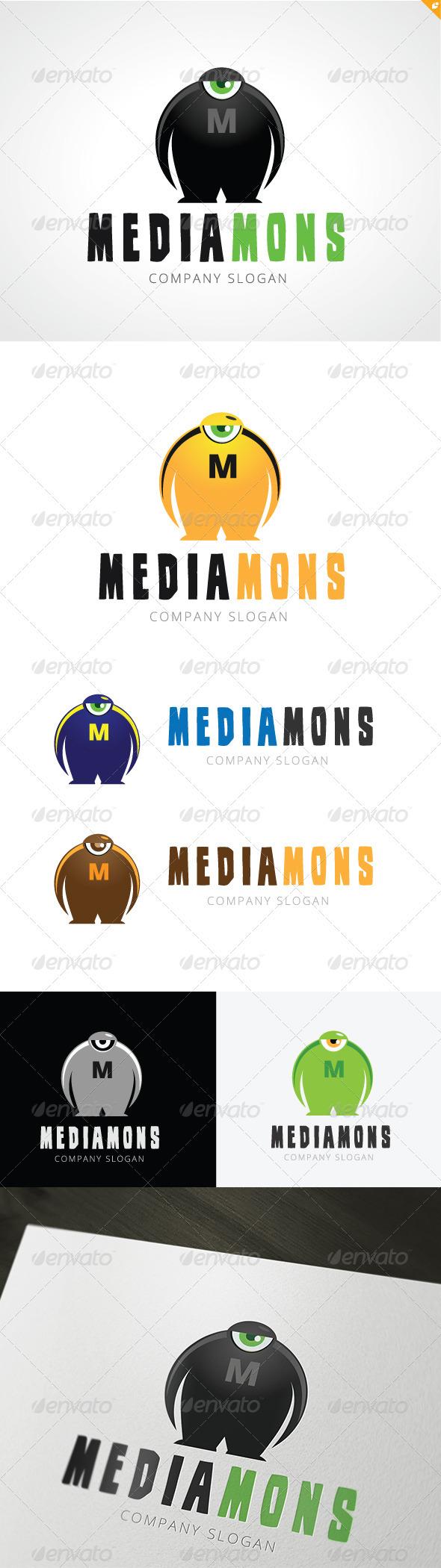 Mediamons Logo - Letters Logo Templates