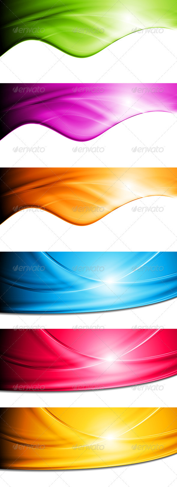 Bright vector waves banners - Backgrounds Decorative