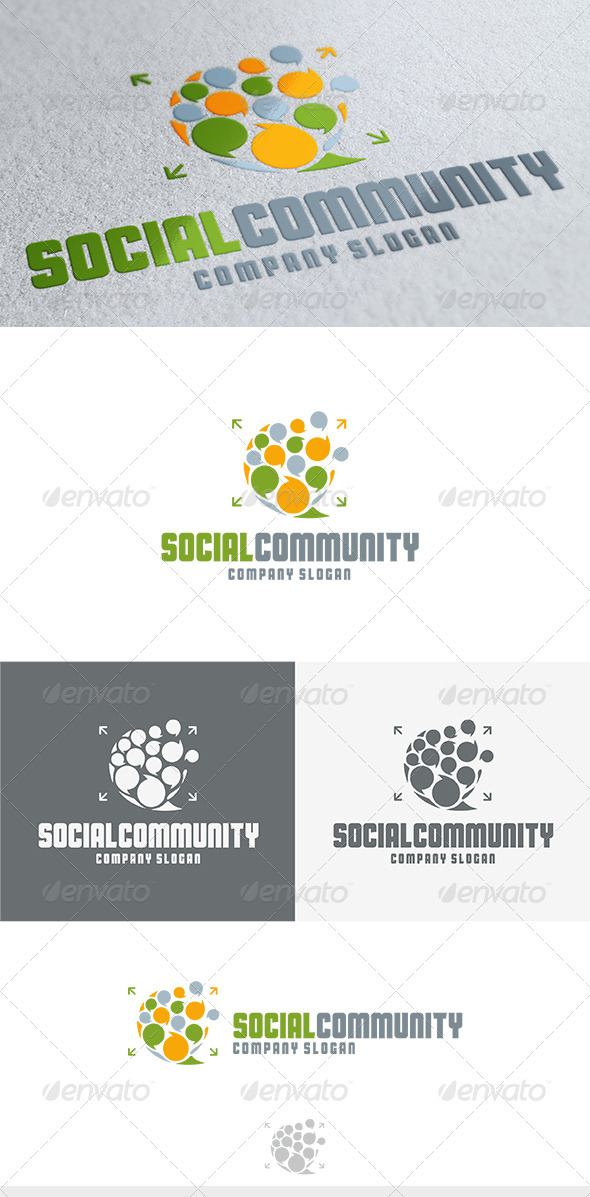 Social Community Logo - Vector Abstract