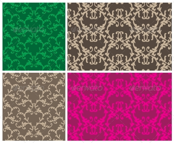 Two Elegant Seamless Patterns - Patterns Decorative
