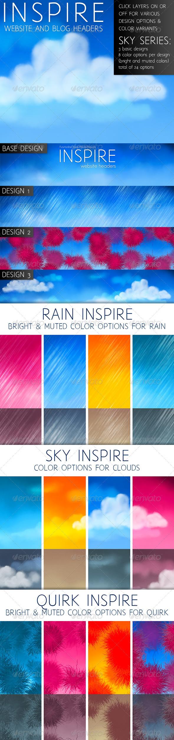 Inspire: Sky Series - Miscellaneous Web Elements