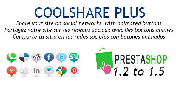 CoolShare Plus Prestashop Social Networks Module - CodeCanyon Item for Sale