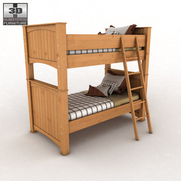 Ashley stages bunk bedroom set by humster3d 3docean for Stages bedroom collection