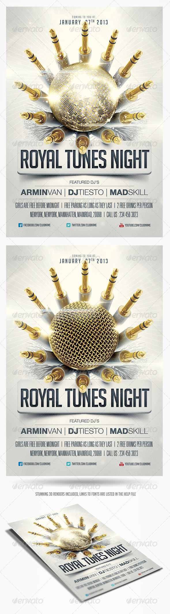 Royal Tunes Flyer Template - Clubs & Parties Events