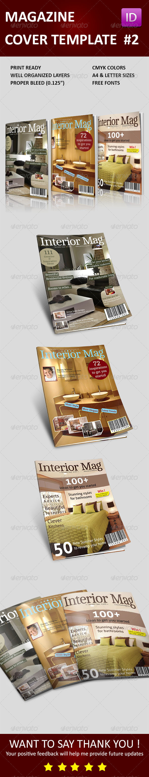 Magazine Cover Templates Vol 2 - Magazines Print Templates
