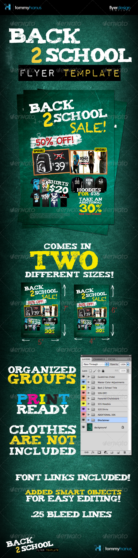 Back 2 School Flyer Template - Commerce Flyers
