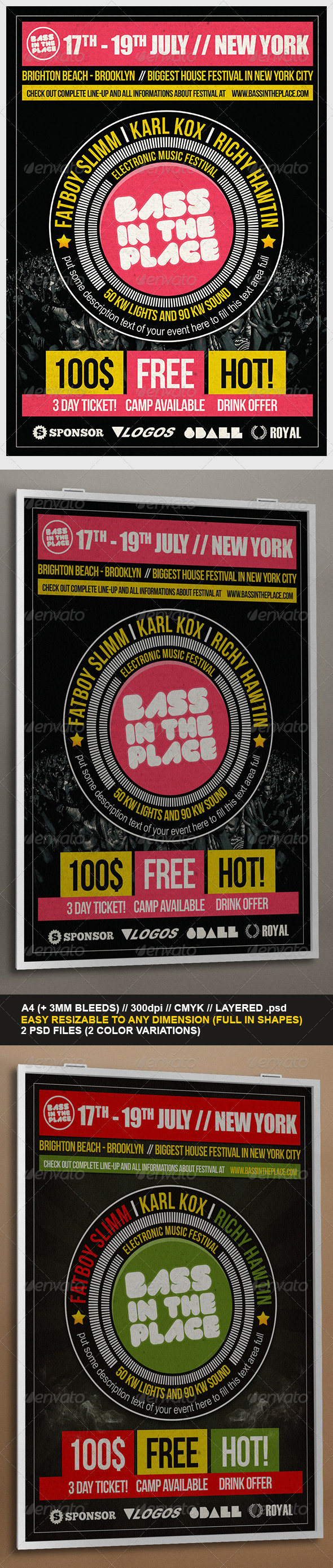 Universal Festival Flyer Template - Clubs & Parties Events