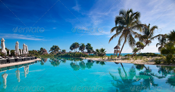 Tropical Resort - Stock Photo - Images