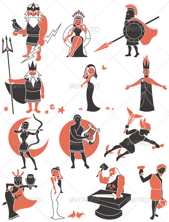 Greek / Roman Gods - Characters Vectors