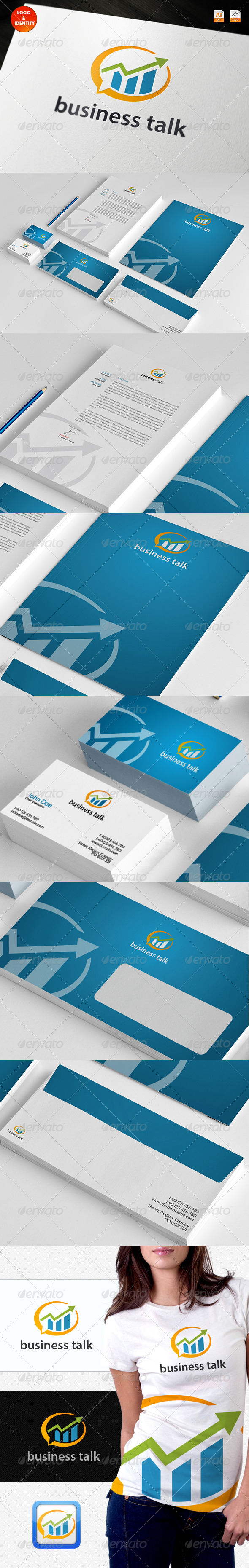 Business Talk Logo & Identity - Stationery Print Templates