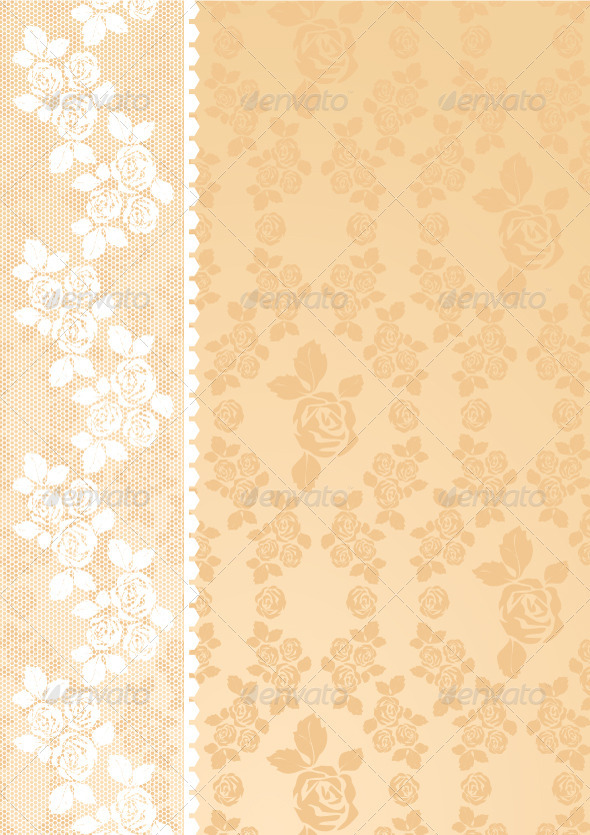 Lace is beige - Backgrounds Decorative