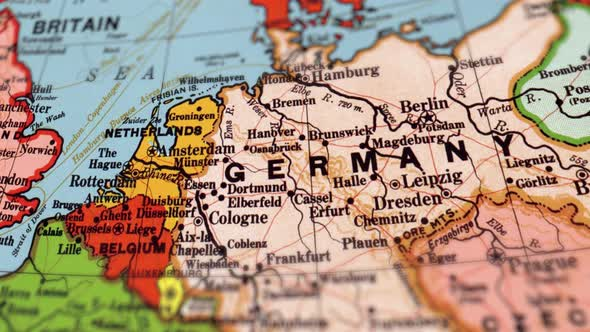 Germany On World Map By Footagestock Videohive