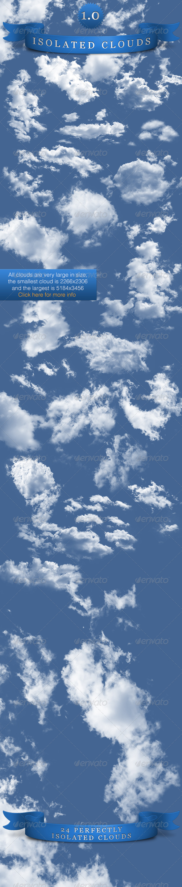 Isolated Clouds - Nature & Animals Isolated Objects