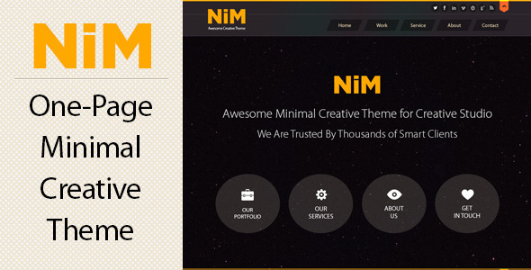 NiM – One Page Creative Theme