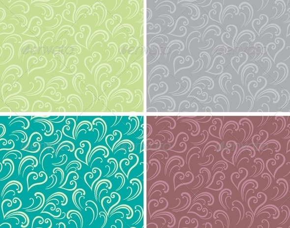Curly seamless background - Patterns Decorative