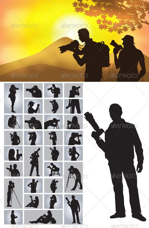 Photographer Silhouettes - Sports/Activity Conceptual