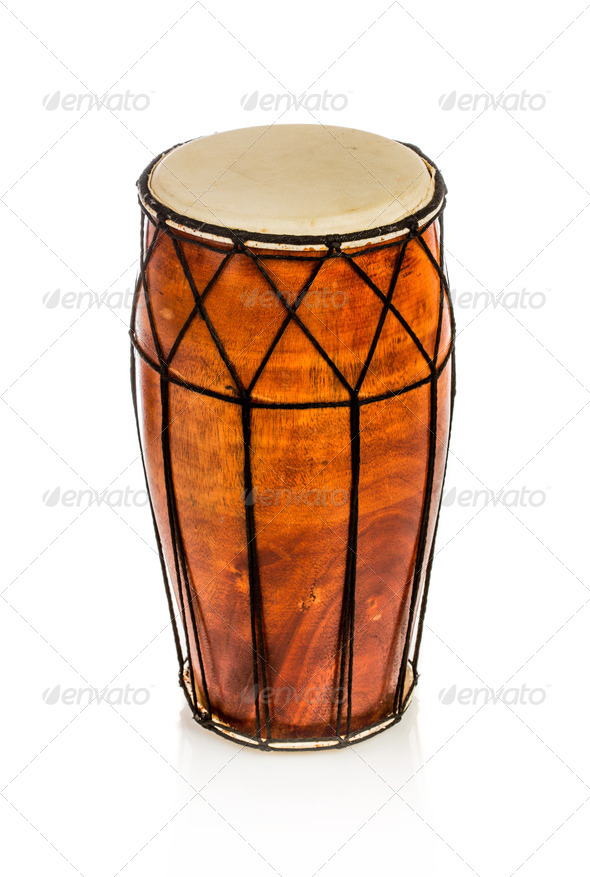 Ethnic drum isolated - Stock Photo - Images