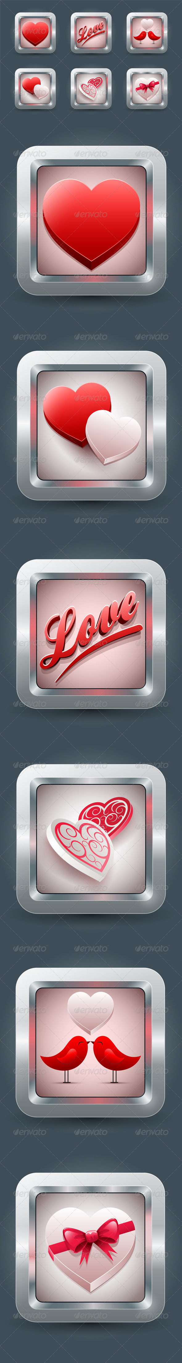 Valentine's Day Love icon Collection - Valentines Seasons/Holidays