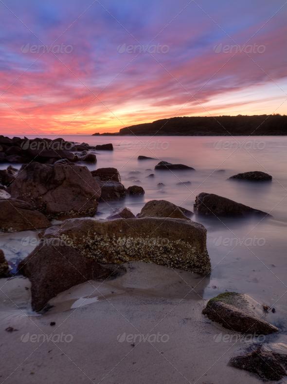 Sunrise rocks - Stock Photo - Images