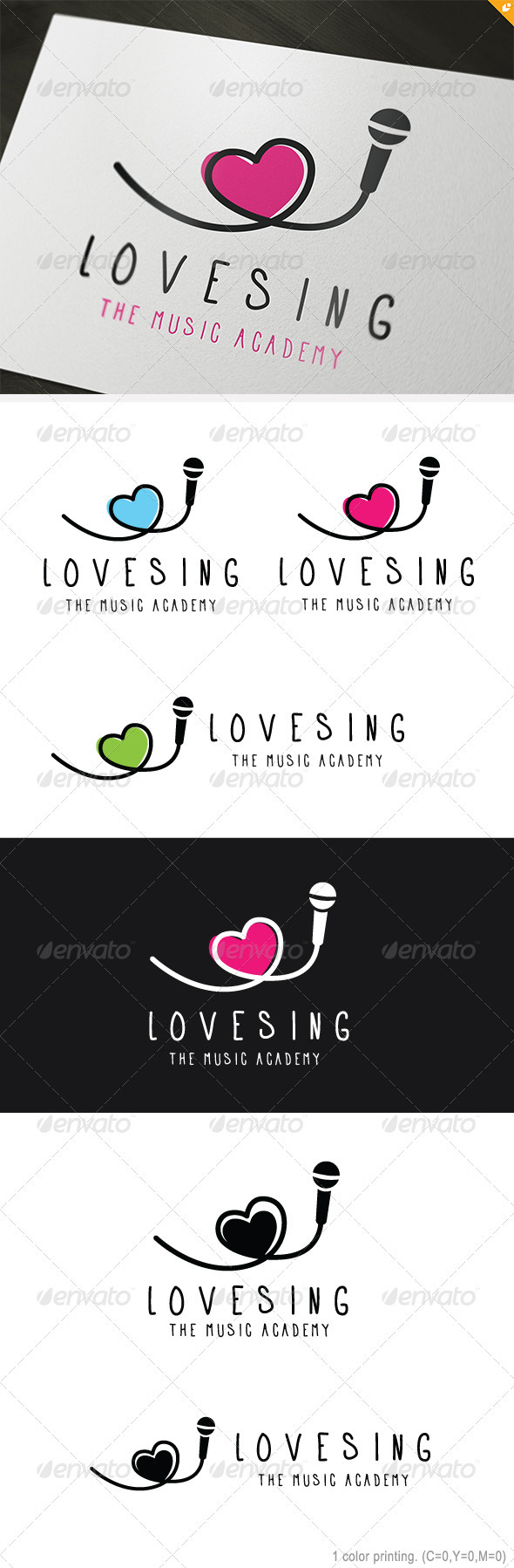 Love Sing Logo - Objects Logo Templates