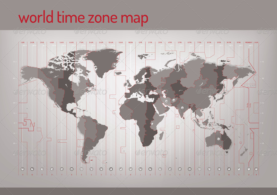 Time Zone Vector Map by restart GraphicRiver