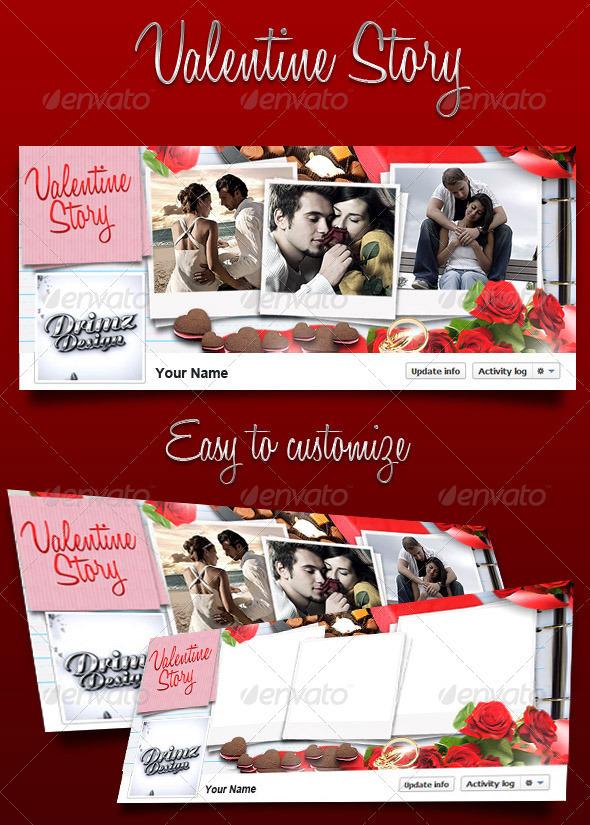 Valentine Story FB Timeline - Facebook Timeline Covers Social Media
