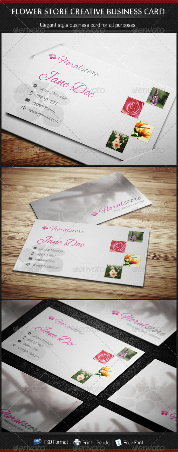 Flower Store Creative Business Card - Industry Specific Business Cards