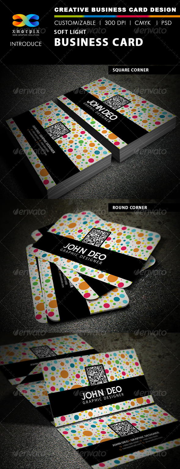 Soft Light Business Card - Creative Business Cards