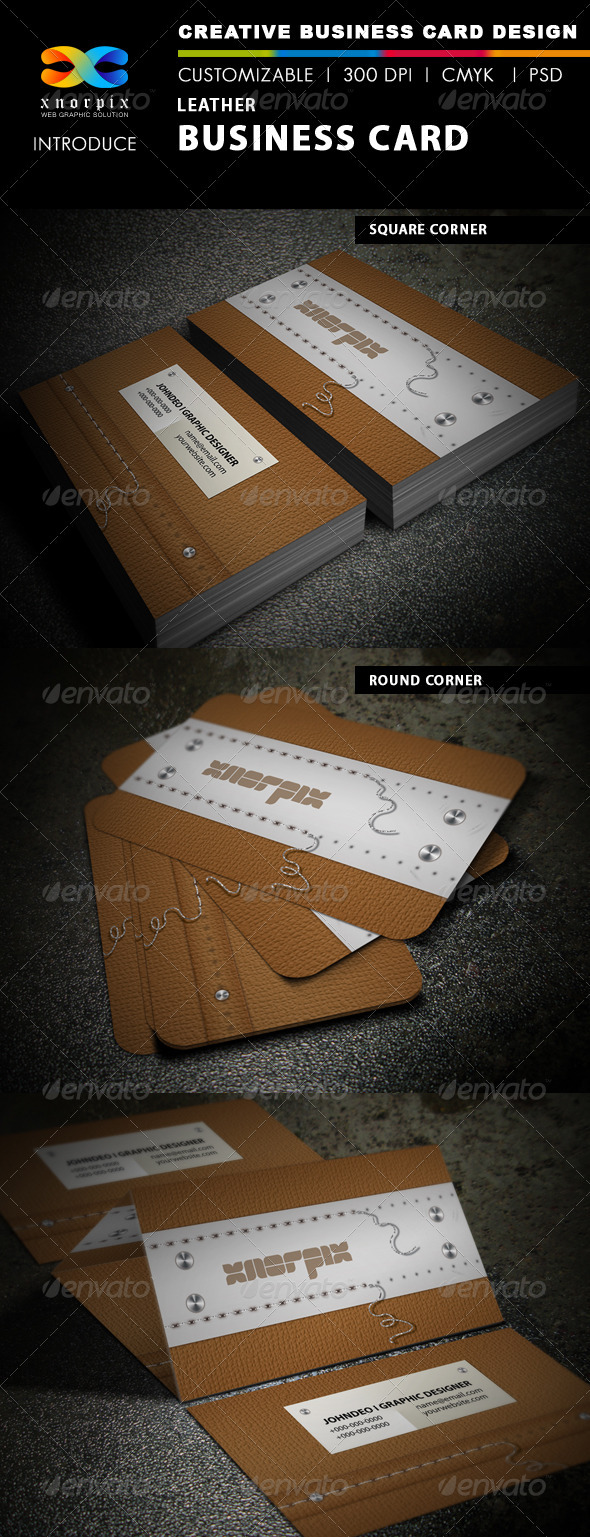Leather Business Card - Real Objects Business Cards