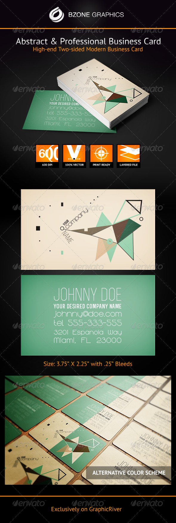 Abstract & Professional Business Card - Creative Business Cards