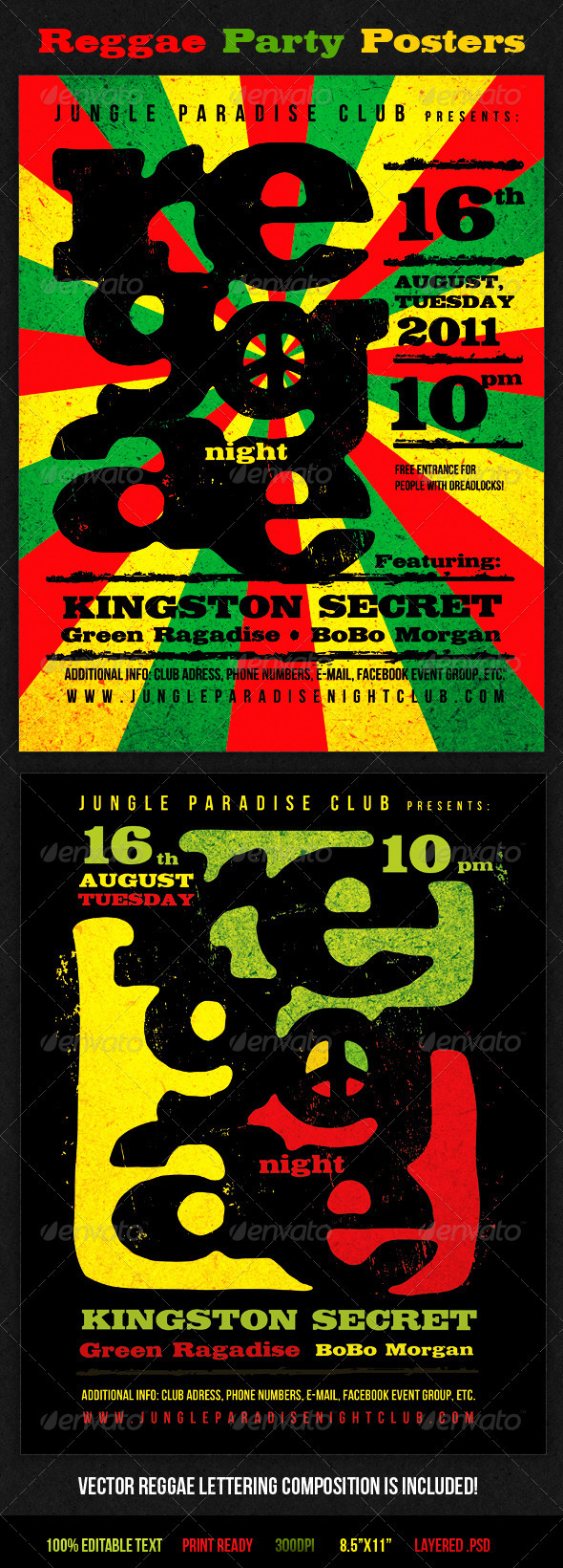 Reggae Party Posters - Clubs & Parties Events