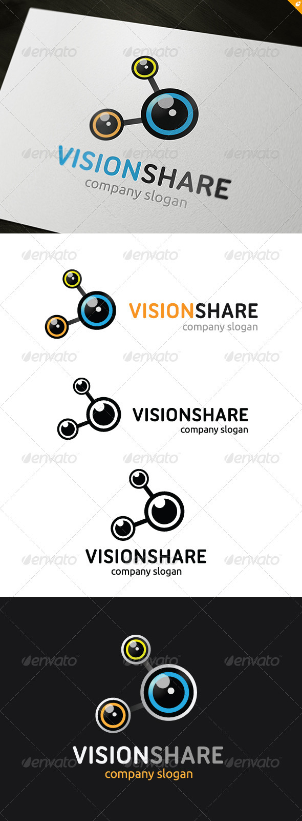 Vision Share Logo - Vector Abstract