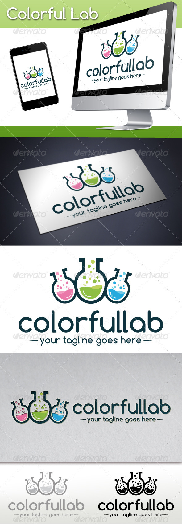 Colorful Lab Logo Template - Objects Logo Templates