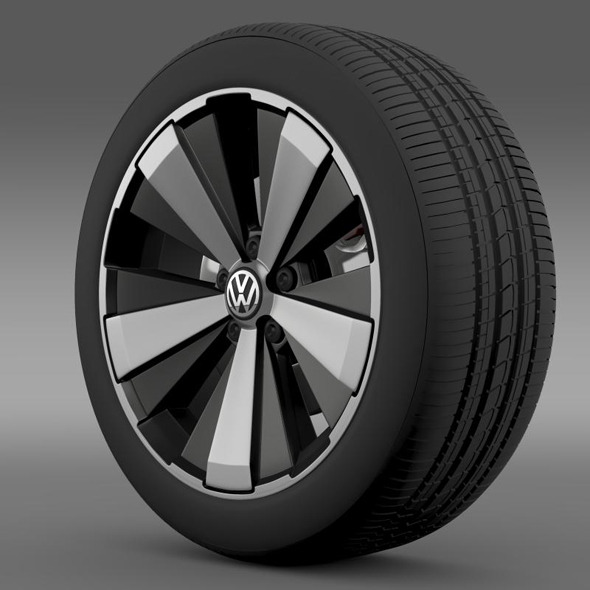 VW Beetle Turbo 2012 wheel - 3DOcean Item for Sale