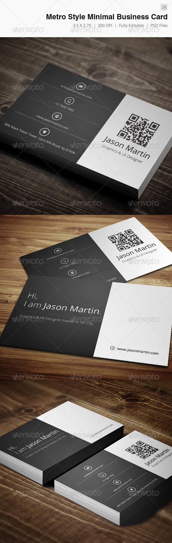 Minimal Creative Business Card - 26 - Creative Business Cards