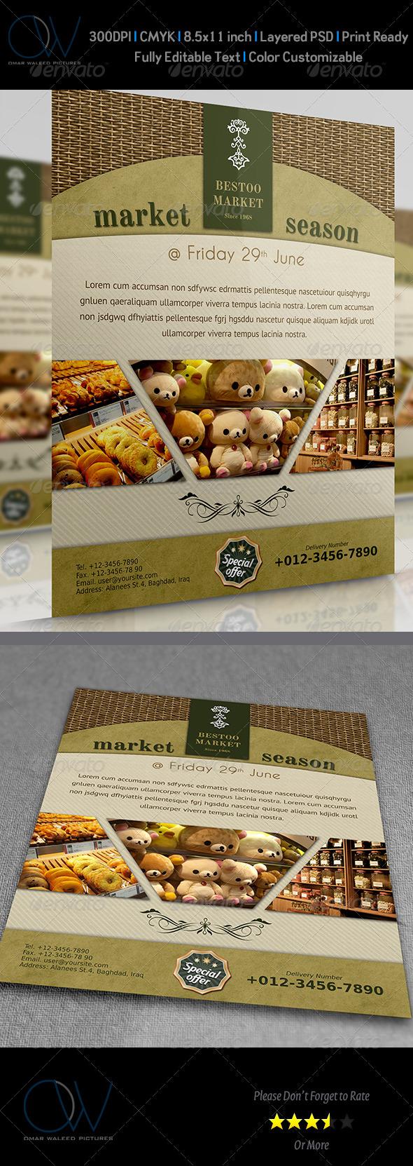 Shop - Market Flyer - Commerce Flyers