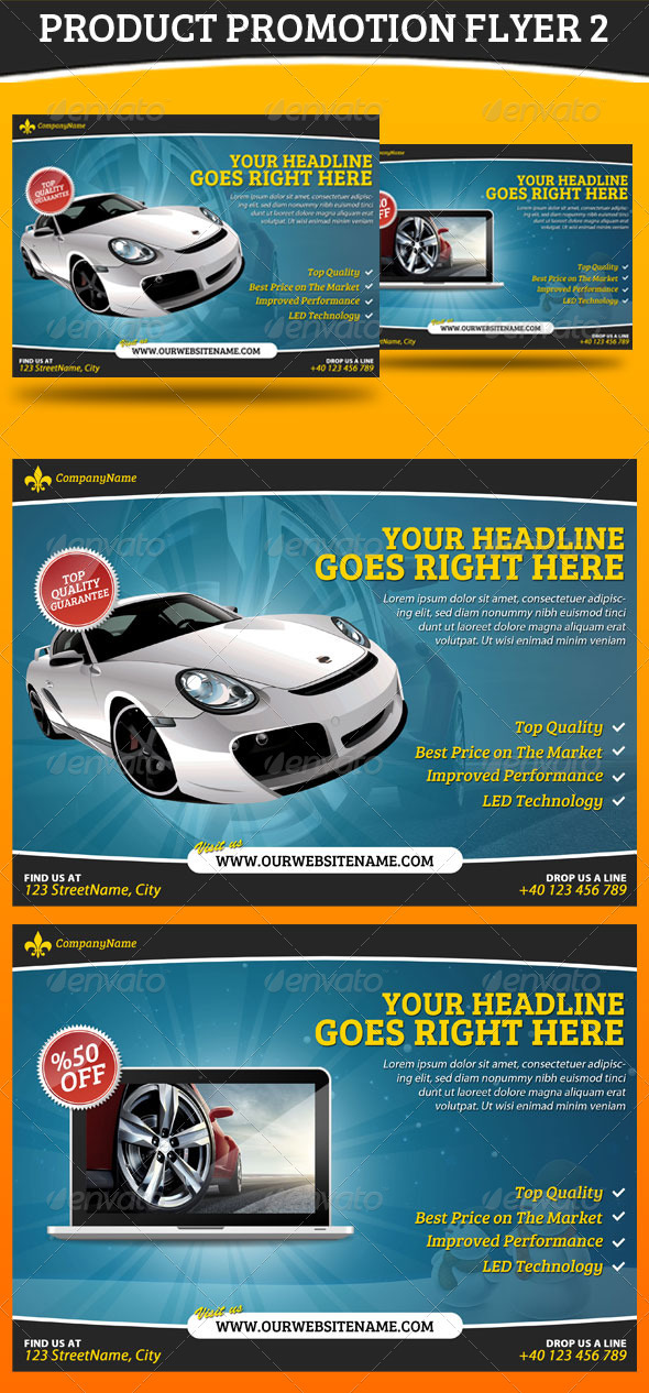 Product Promotion Flyer 2 - Commerce Flyers