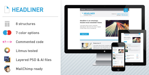 Headliner: Email Marketing & Newsletter Template
