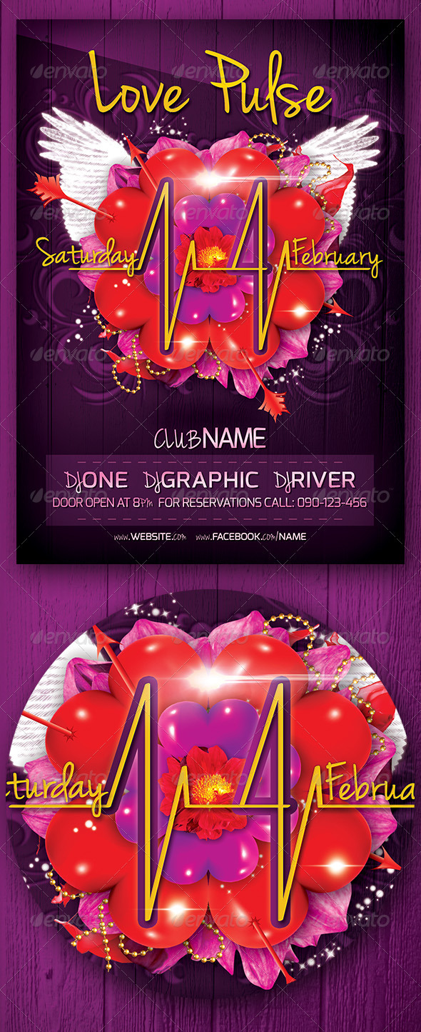 Love Pulse Party Flyer - Events Flyers