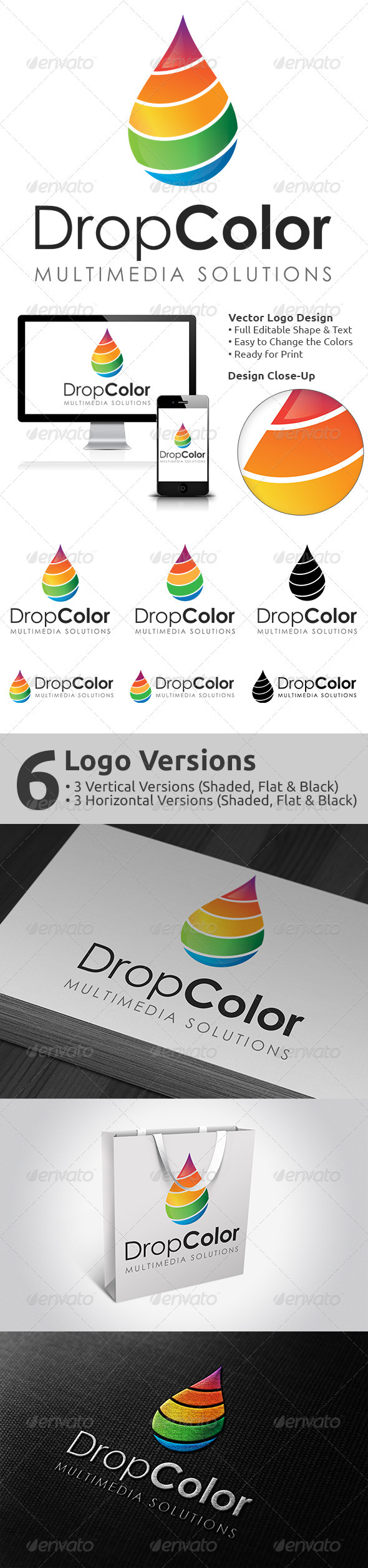 DropColor Logo Design - Vector Abstract