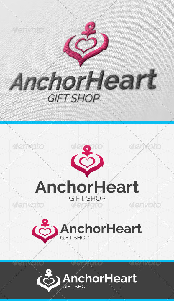 Anchor Heart Logo Template - Objects Logo Templates