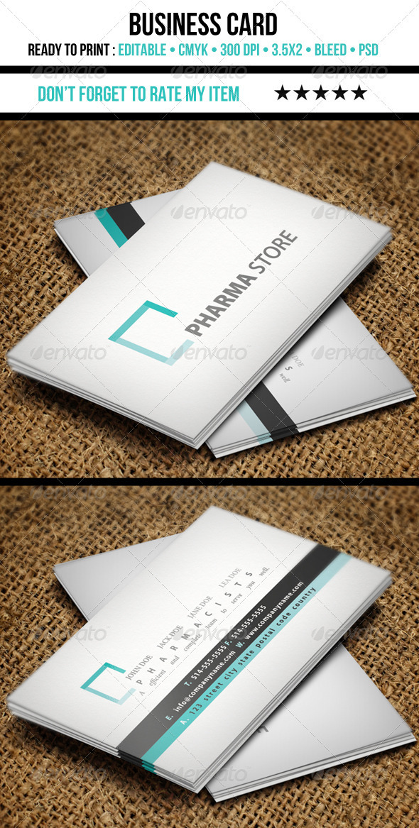 Medical Business Card By Nicotof | Graphicriver