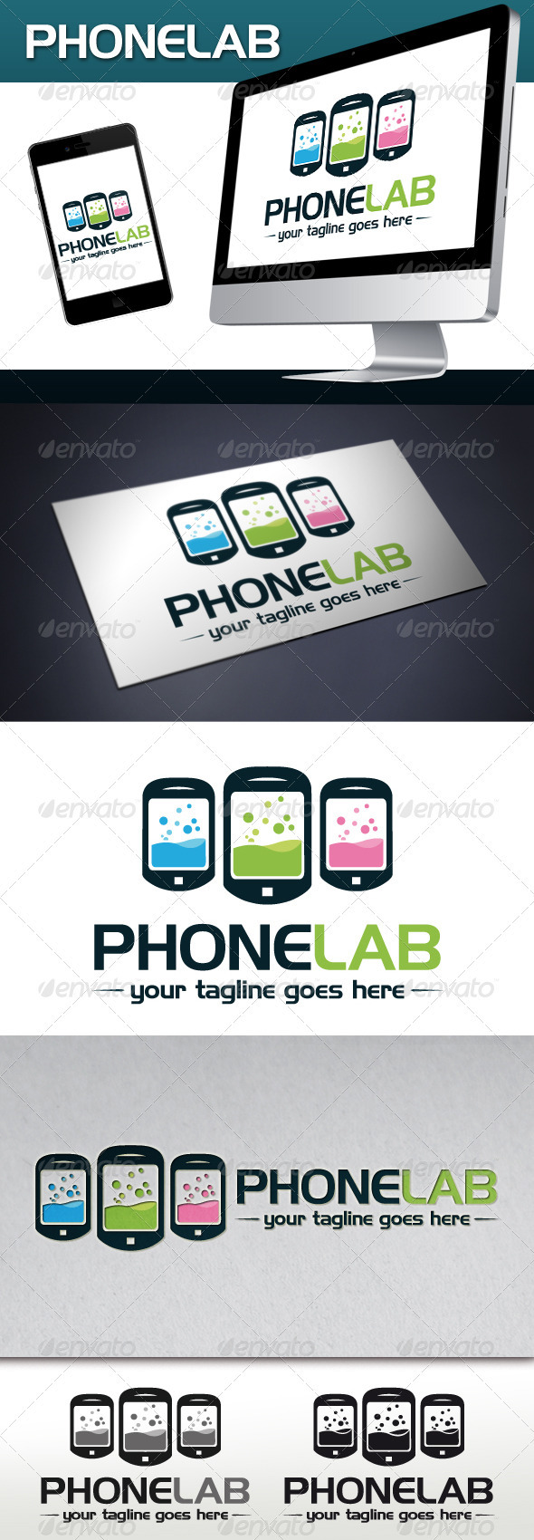 Phone Lab Logo Template - Objects Logo Templates