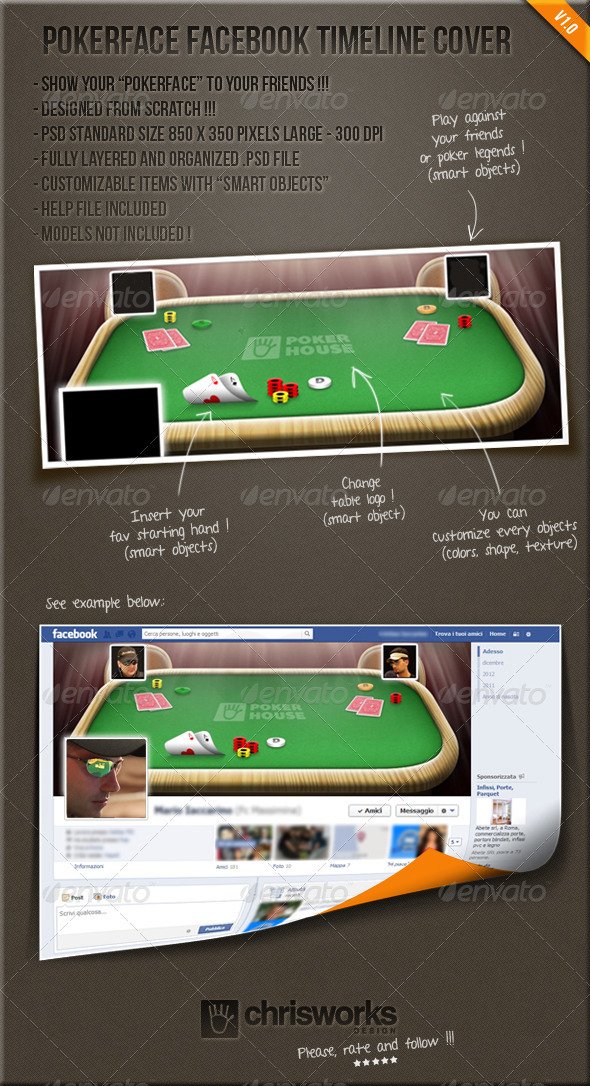 Pokerface FB Timeline Cover - Facebook Timeline Covers Social Media